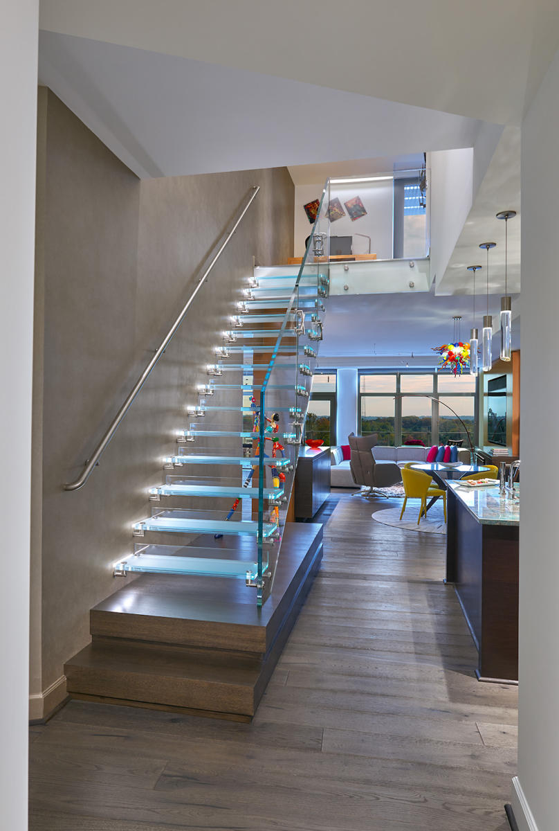 Penthouse with a Feature Stair : WIEDEMANN ARCHITECTS : Custom ... on