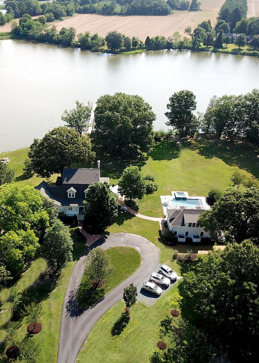 Aerial view of property.