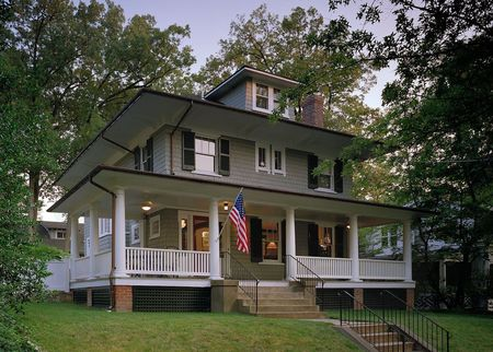 Traditional 4-Square Craftsman Home